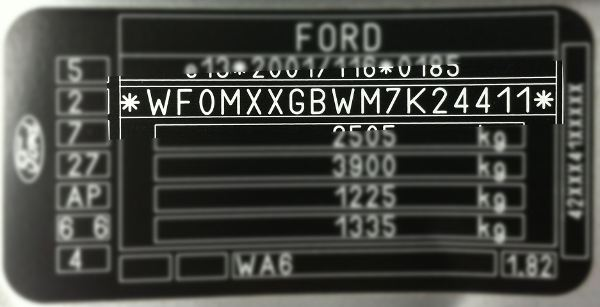 Ford Paint Code Ford Vin Code Usually Starts With Wf And Is  Digits Long