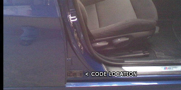 Bmw Paint Code Location Where Is My Bmw Paint Code Located