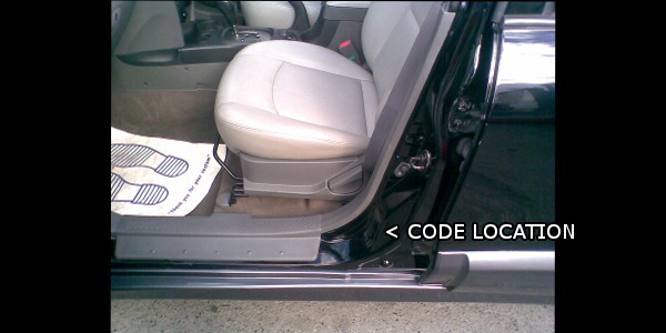 Hyundai paint code location   Where is my Hyundai paint ...