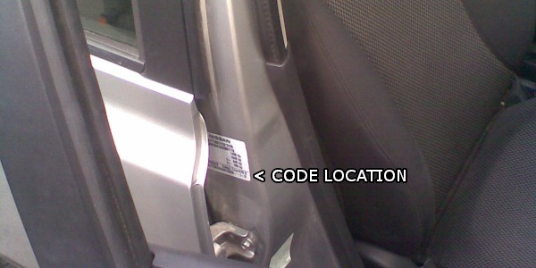 Nissan Qashqai Paint Code Location